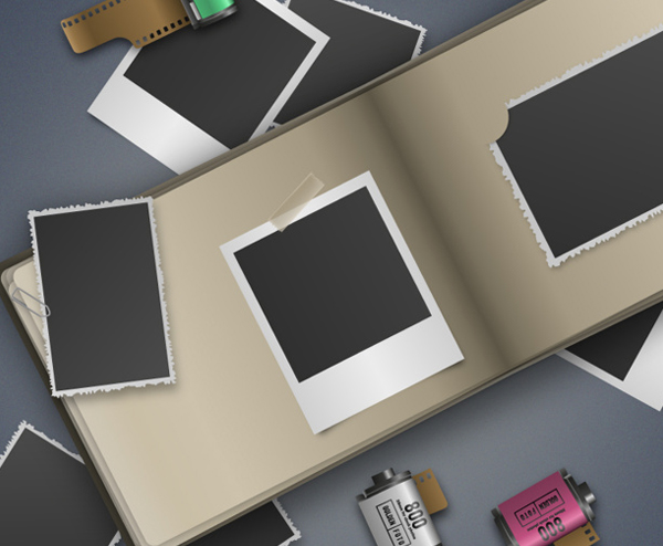 Blank Retro Photography Frames Free Vector