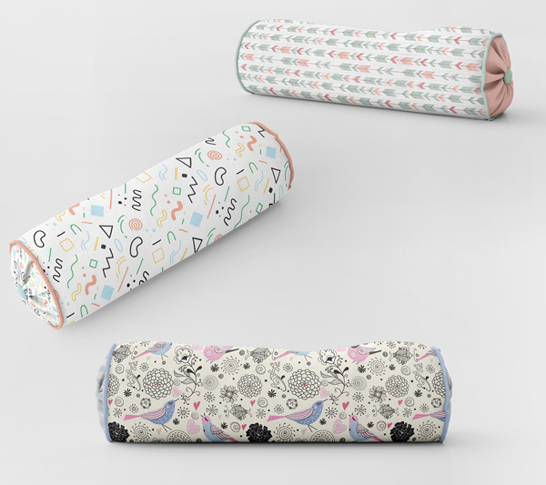 Bordered Bolster Pillow Mockup Pack