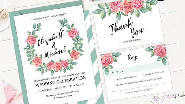 Botanical Wedding Invitation Templates