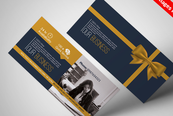 Business Gift Certificate PSD Templates