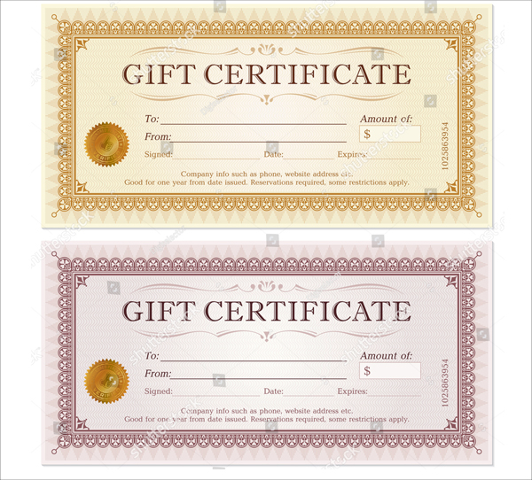 Editable Gift Certificate Template