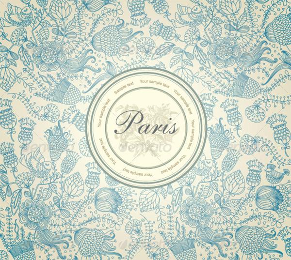 Classical Wallpaper Flower Pattern