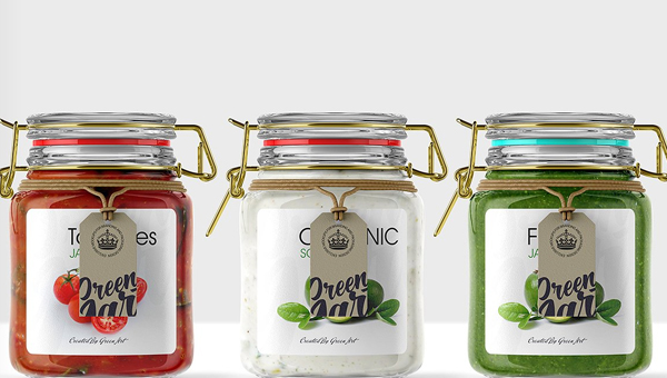 Clear Glass Jar Mockup Template
