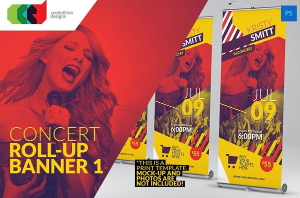 Concert Rollup Banner Designs