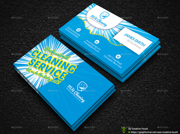 Cool Cleaning Services Business Card Templates