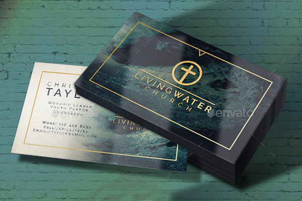 Cool Watercolor Business Card Template