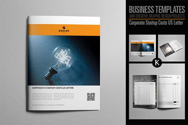 Corporate Startup Costs US Letter Template