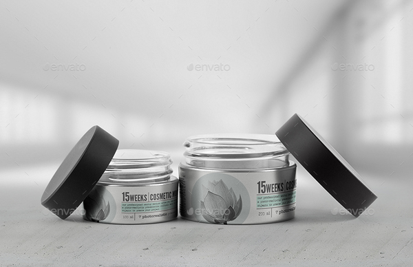 Cosmetic Jar Mockup Template