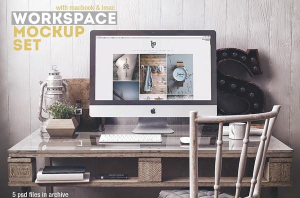 Creative Workspace Mockup Set