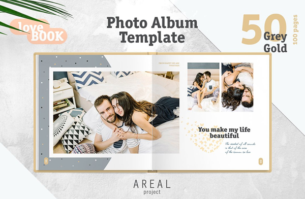 Custom Wedding Album Template