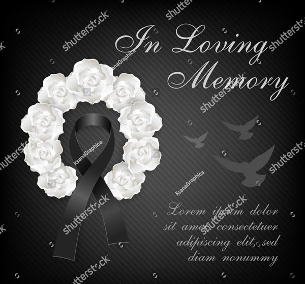 Dark Eulogy Funeral Program Card