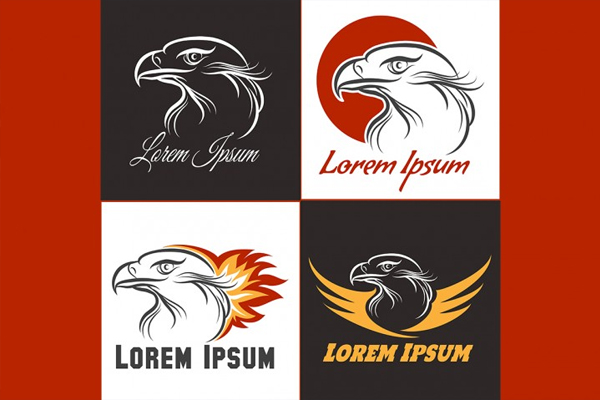 Eagle Emblem Set Template