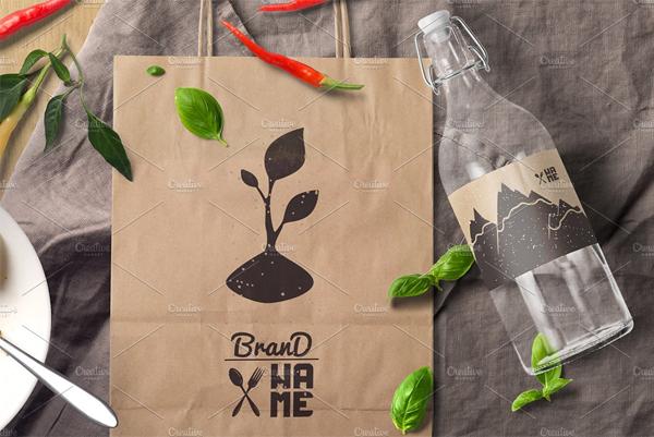Eco Food Logo Design Template