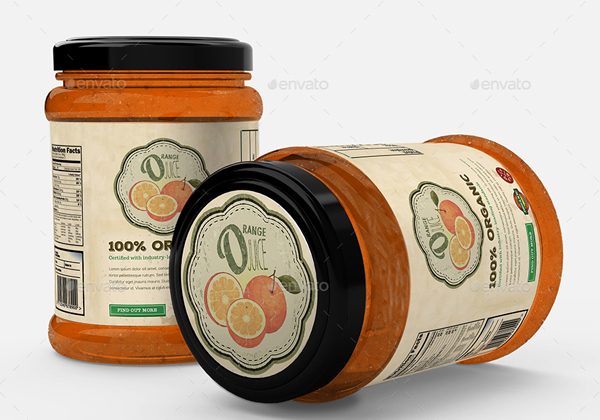 Editable Jar and Bottle Mockup