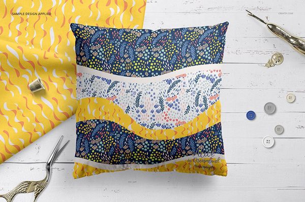 Fabric Factory Pillow Mockup Templates