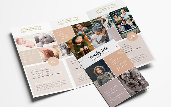 Family Photographer Trifold Brochure