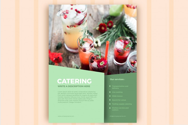 Free Download Catering Business Marketing Flyer Template