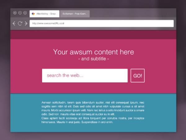 Free Download Flat Transparent Browser Mockup