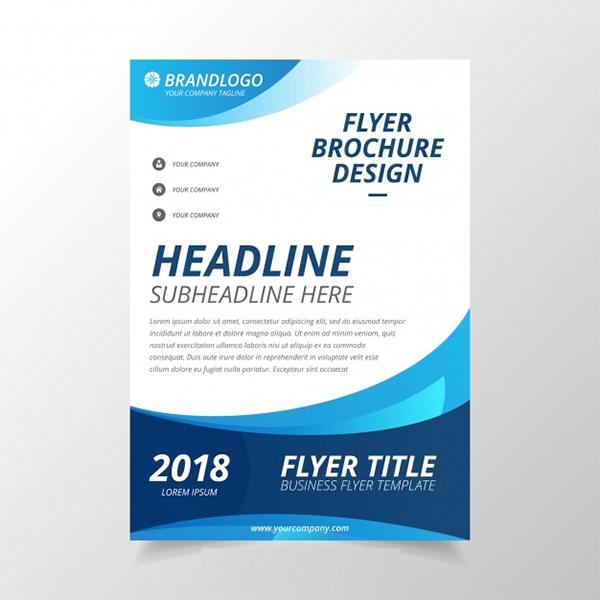 Free Modern Wavy Business Brochure