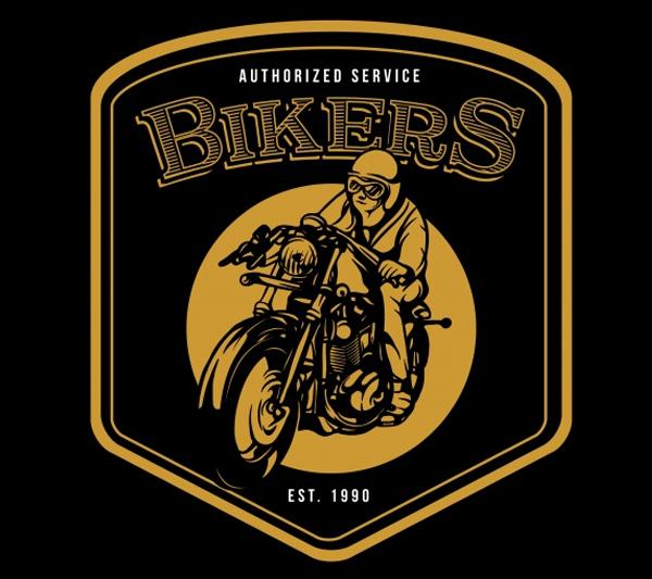 Free Retro Vintage Motorbike Logo Template