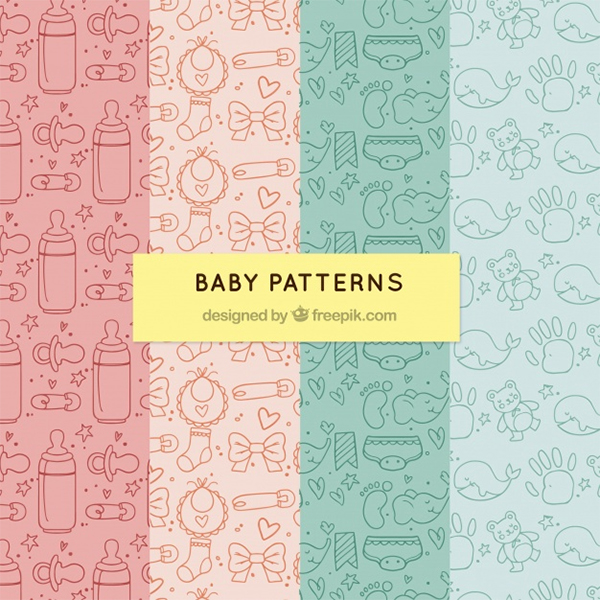 Free Vector Baby Vector Pattern Pack