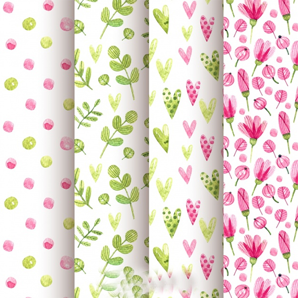 Free Vector Watercolour Spring Patterns