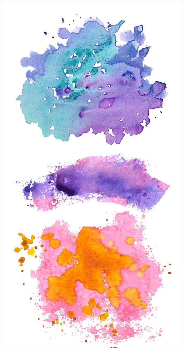 Free Watercolor Elements Flower Patterns