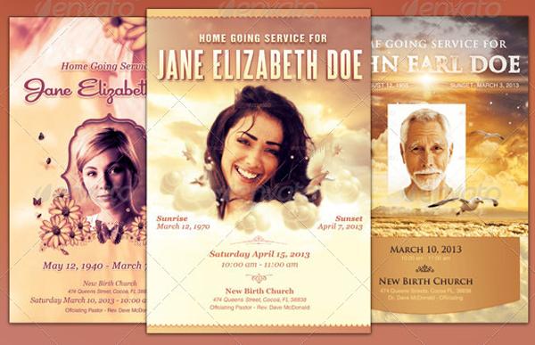 Funeral Program Flyer Templates