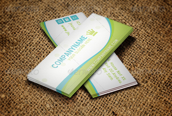 Garden Swimming Pool Mini Business Card