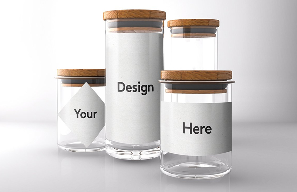 Glass Mason Jar Mockups