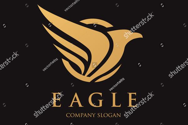 Golden Eagle Logo Template