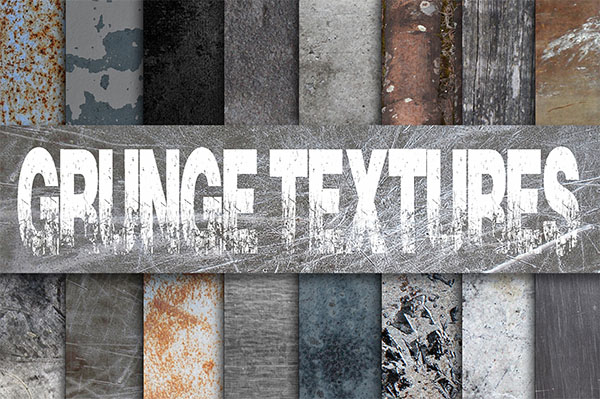 Grunge Metal Textures Digital Paper Bundle