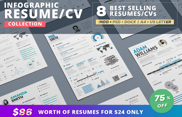 Infographic Resume Bundle Templates
