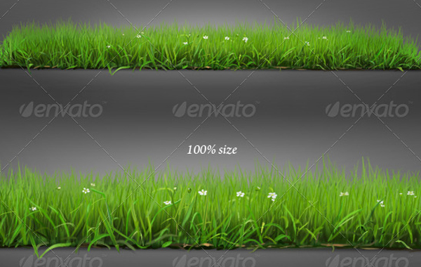 Isolated Grass Pattern