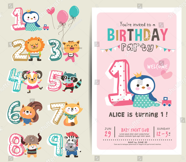 31 Printable Birthday Party Invitation Free Psd Png Vector Download