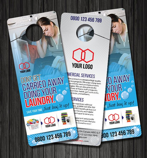 Laundry Door Hanger Design Template