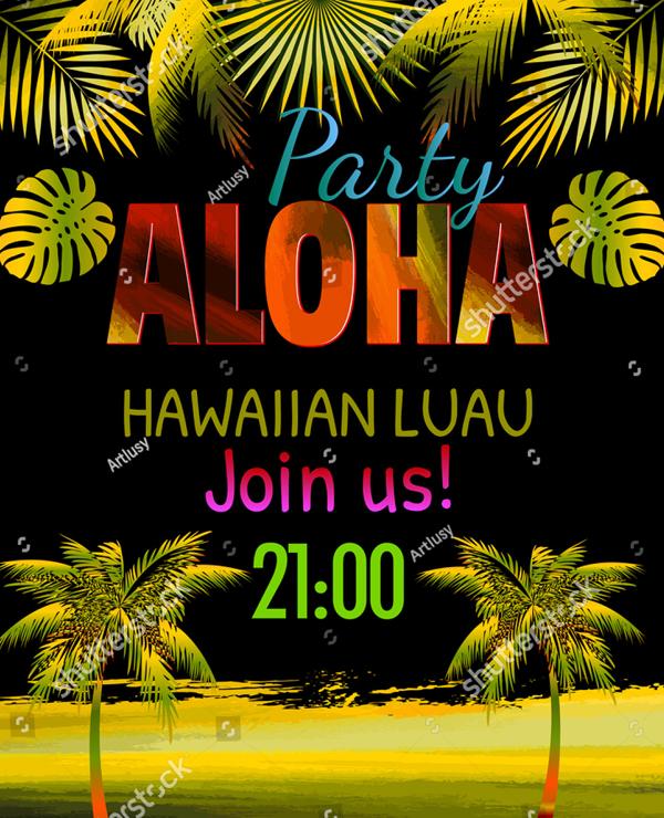29 Printable Luau Party Flyer Templates