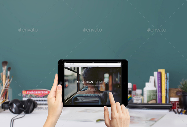 Macbook, iPad & iPhone Workspace Mockups