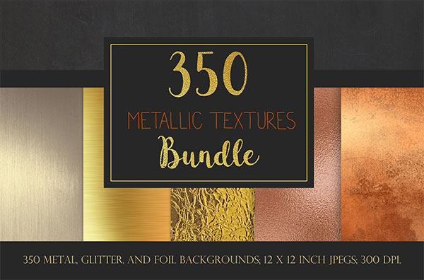 Metallic Textures PSD Bundle