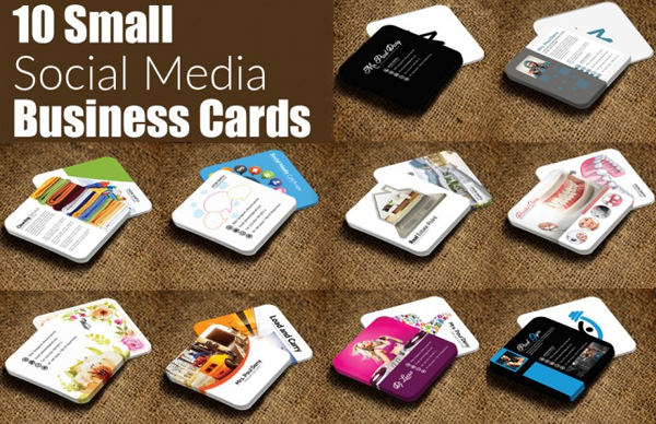 Mini Social Media Business Cards Bundle