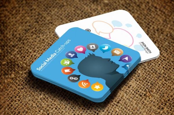 Mini Social Media Contact Cards