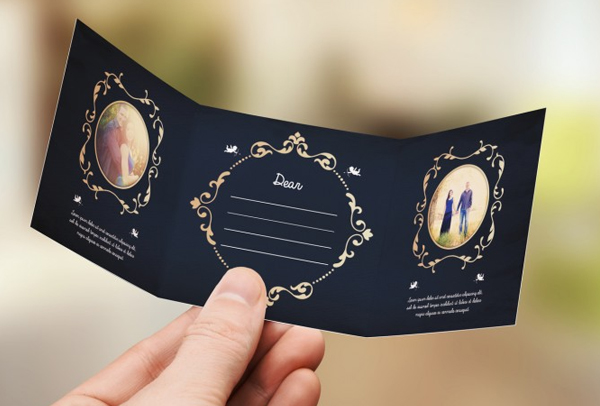 Beautiful Mini Wedding Invitation Card Template