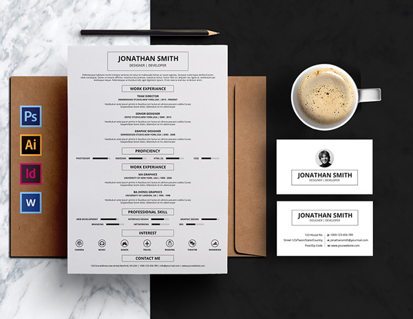 Minimal Resume & Business Card Template