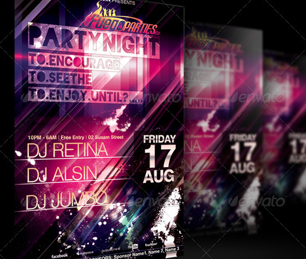 Modern Party Night Flyer Template