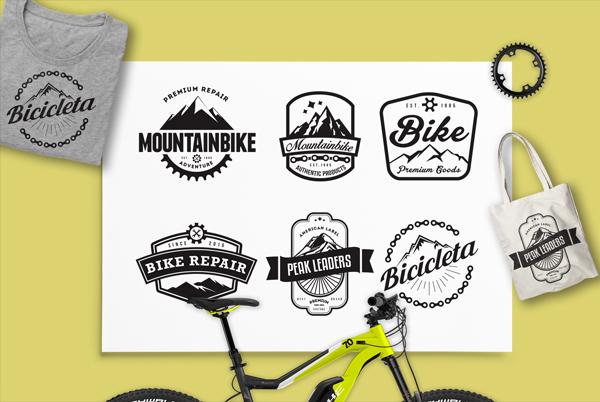 Mountain Bike Retro Logo