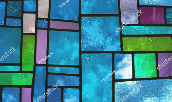 Multicolored Stained Glass Texture