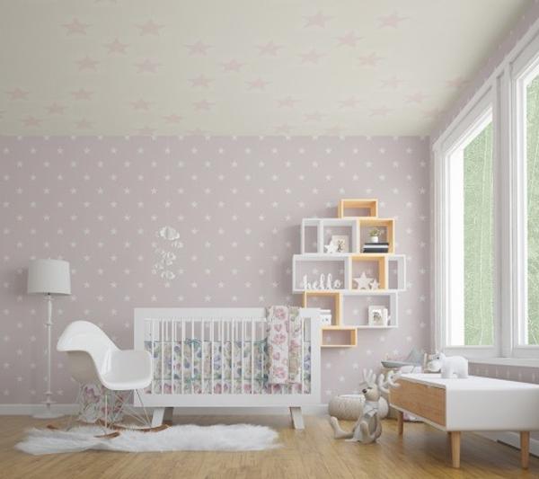 Nursery Crib Walls Ceiling Mock-up Pack