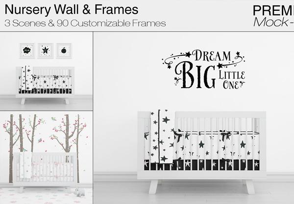 Nursery Wall & Frame Mockup Templates
