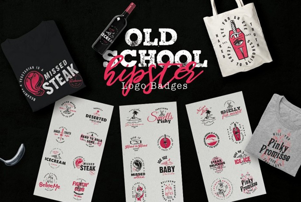 Old School Hipster Logo Templates