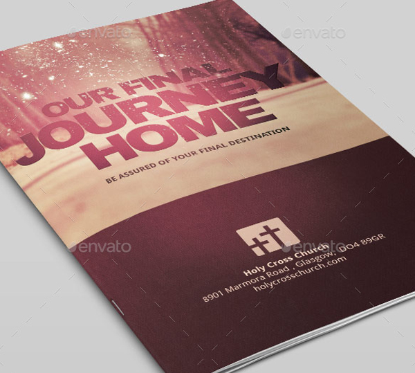 Our Final Journey Church Program Bulletin Invitation Template